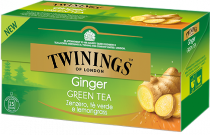 Ginger Green tea Twinings allo Zenzero